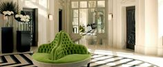 The lobby at the Trianon Palace Hotel in Versailles . Lobby Design, Design Hotel, Design Entrée, Interior Design, Floor Design, Restaurant Design, Palaces, Trianon Palace Versailles, Lobby Do Hotel