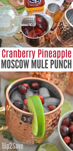 Make Cranberry Moscow Mules for a Crowd with this EASY Holiday Punch Recipe – Hip2Save