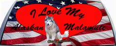 I Love My Alaskan Malamute Custom Rear Window Graphic