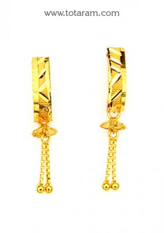 22K Gold Drop Earrings Totaram Jewelers Buy Indian Gold jewelry
