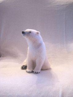 Needle felted polar bear by ~earfox on deviantART