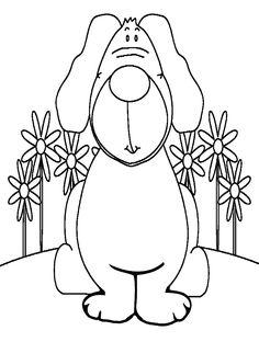 Dibujo para colorear de perros (nº 5)