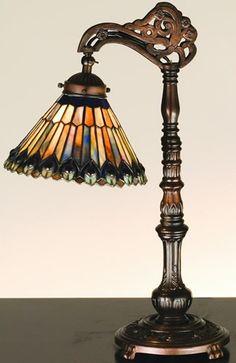 Meyda Tiffany 32738 Peacock Desk Lamp