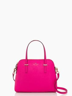 Can someone show this to Matt before Christmas??? Kate Spade, Cedar Street Maise in color True Vivid Snapdragon #obsessed