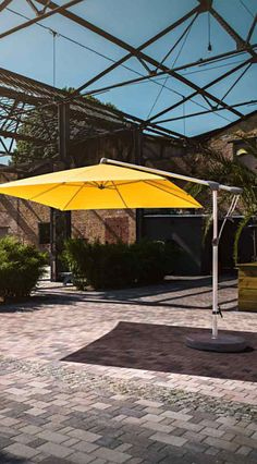 Gelber Sonnenschirm Von Glatz | Mehr Hochwertige Sonnenschirme In Bunten  Farben Gibtu0027s Bei Garten Und