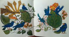 Birds from Jessica Palmer's colouring book Tangle Wood. Colourista: furrytail2310