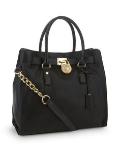 2ba263e3207 MICHAEL Michael Kors Large Hamilton North-South Tote - Black Michael Kors  Hobo