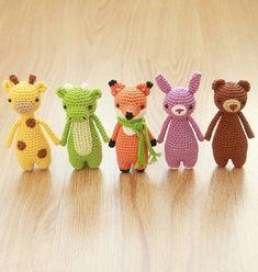 Mini animal amigurumi patterns series #littlebearcrochets #amigurumi #crochet #diy