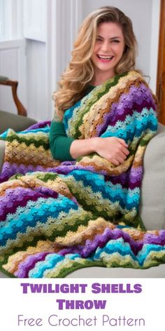 Twilight Shells Throw [Free Crochet Pattern]