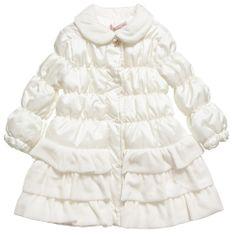 Miss Blumarine Girls Ivory Padded Coat