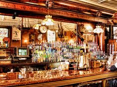 The Irish Lion Restaurant & Pub, Bloomington, Indiana.  My husband and I have to go here every time we are at IU, and Whiskey Pie is a must!  :)