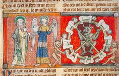 Toulouse - BM - ms. 0815 f.017v (left) and f. 059v.(right) Apocalypse. Beginning of the 14th century (England)