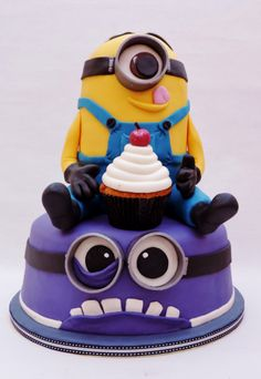 minion cake. Jaxen's 2nd birthday.