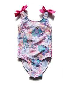 Love this White Summer Owl One-Piece - Infant, Toddler & Girls on #zulily! #zulilyfinds