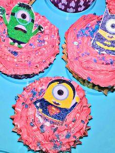Minion Superhero Cupcakes - School Bakesale & Paper plate tiger mask | Things I\u0027ve created | Pinterest | Tiger mask
