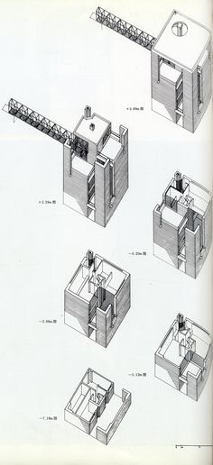 Mario Botta. GA Houses. 1 1976: 162
