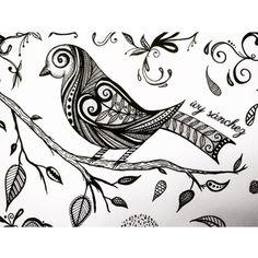 Bird zentangle draw.. #art #arte #drawing #draw #bird #tattoodesign #ink #blackink #inkart #artwork