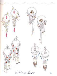 Jewellery Corn Exchange down Jewellery Shops Nearby next Jewellery Shops Tooting Gems Jewelry, Art Deco Jewelry, Jewellery Sketches, Jewelry Sketch, Jewelry Design Drawing, Jewelry Illustration, Contemporary Jewellery, Designer Earrings, Luxury Jewelry