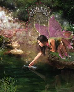 Fairy Photo: This Photo was uploaded by Find other Fairy pictures and photos or upload your own with Photobucket free image and video hosting se. Fairy Dust, Fairy Land, Fairy Tales, Forest Fairy, Fantasy World, Fantasy Art, Fantasy Fairies, Fairies Photos, Images Gif
