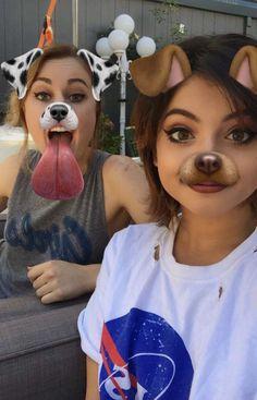 Miranda and Nia on the band's Snapchat