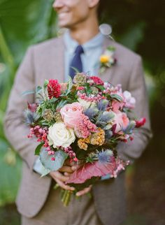 Spring Wedding Bouquet -- Garden Fresh! See more on #SMP here: http://www.StyleMePretty.com/2014/05/09/floridian-spring-wedding-inspiration/ -- Photography: Gianny Campos Photography - gcamphotos.com -- Floral Design: AnthologyFloristry.com