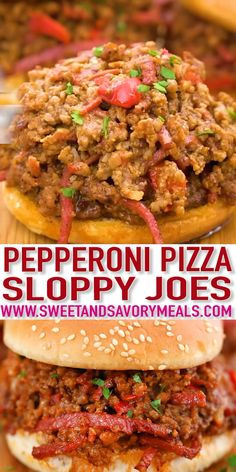 Pizza Sloppy Joes are a rich and savory dish inspired by two American favorites! Give this classic dish a twist with this easy homemade recipe! food recipes videos classic Pizza Sloppy Joes - Sweet and Savory Meals Grilling Recipes, Lunch Recipes, Easy Dinner Recipes, Beef Recipes, Breakfast Recipes, Easy Meals, Cooking Recipes, Pizza Recipes, Pizza