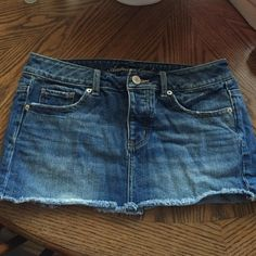American Eagle jean skirt Jean skirt, so cute especially for the summer! Never worn! American Eagle Outfitters Skirts Mini