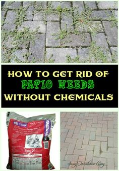 How To Get Rid Of Patio Weeds Without Chemicals - Sassy Townhouse Living #Weeds #ChemicalFree #Gardening