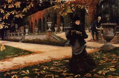 * The Letter (c. 1878), by James Tissot. (68.58 by 101.60 cm). National Gallery of Canada, Ottawa, Ontario.