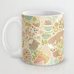 Animal's Tea Party Mug by Teagan White | Society6