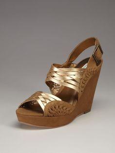 Jaden Slingback Wedge Sandal by Cynthia Vincent on Gilt.com