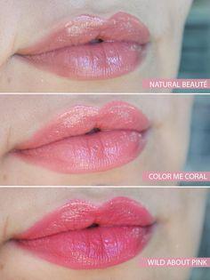 Mary Kay - True Dimensions, uma linha de batons com embalagem sofisticada e textura ultra hidratante. Cores fav´s: Wild About Pink, a Natural Beauté e a Color Me Coral.