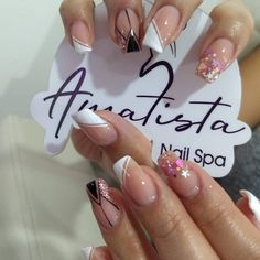 Manicure Nail Designs, Nail Manicure, Pedicure, Nail Art Designs, Nail Polish, Fancy Nails, Pink Nails, My Nails, Semi Permanente