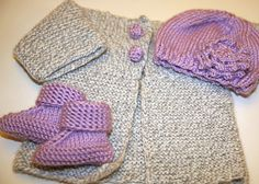 PATTERN knitting - baby sweater / cardigan with soft crochet buttons (0-6, 12, 18, 24 months (2 yrs), Child 3 years)