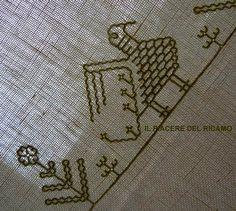 Il Piacere del ricamo: Punto Caterina De Medici Kasuti Embroidery, Hand Embroidery, Bargello, Rug Hooking, Cross Stitch, Rugs, Crafts, Armenia, Shirt