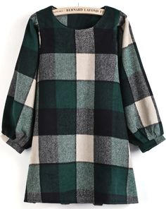 Plaid Shift Dress - This looks really cute and comfy!