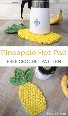 Most up-to-date Free Crochet coasters pineapple Concepts Pineapple Crochet Hot Pad Pattern Crochet Kitchen, Crochet Home, Free Crochet, Knit Crochet, Crotchet, Crochet Simple, Crochet Hot Pads, Confection Au Crochet, Crochet Abbreviations