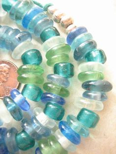 Mixed Ghana Disk Beads by bobbydoe on Etsy, $14.00