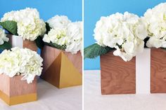 An Easy Way to Make Modern Wood Vases | Brit + Co.