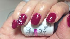 Harmony Gelish Nail Art. Rendezvous with flower decal by Kirsty Dixon.