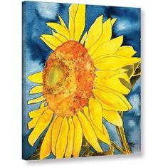 ArtWall Derek Mccrea Sunflower Gallery-wrapped Canvas, Size: 18 x 24, Orange