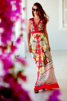 Rocha. John Rocha, Red printed maxi dress