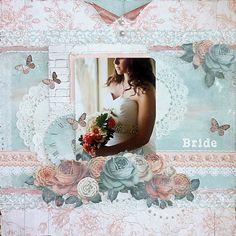 Bride ***My Creative Scrapbook*** - Kaisercrafts beautiful Ohh La La Collection Wedding Scrapbook Pages, Scrapbook Examples, Snowman Ornaments, Hello Everyone, Scrapbooking Layouts, Kit, Scrapbooks, Card Making, Paper Crafts