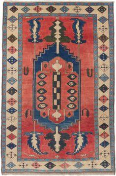 CLEARANCE-SALE-Hand-knotted-Turkish-Carpet-69-x-99-Ushak-Rug