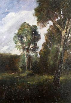 Mednyánszky Ladislav / László : Stromy pri rieke