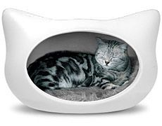Cat bed, makes me think of my friend Joy!  Talk about Hello Kitty!