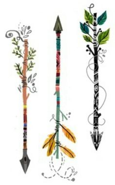 Arrow tattoos @Sarah Chintomby Chintomby Nowlan I love this idea!
