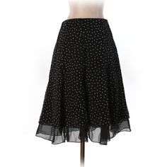 Pre-owned White House Black Market Silk Skirt Size 2: Black Women's... ($18) ❤ liked on Polyvore featuring skirts, black, white house black market skirts, white house black market and silk skirt