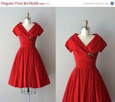 25% OFF... Billet-doux dress  red 1950s dress  by DearGolden