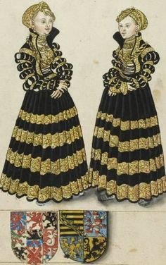 Reinette: German Style from 1468-1588 Maria and Margaret of Saxony, daughters of John the Steadfast, Elector of Saxony.